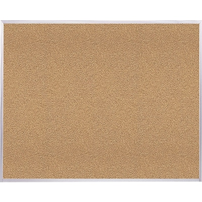 Ghent Natural Cork Bulletin Board with Aluminum Frame, 4H x 6W