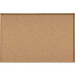 Ghent Natural Cork Bulletin Board with Wood Frame, 4H x 8W WK48