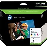 HP 02 (Q7964AN) Black/Cyan/Mgnta/Ylw/Lht Cyan/Lht Mgnta Original Ink Cartridges (6 cart per pack)