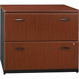 Bush Business Cubix 36W 2Dwr Lateral File, Hansen Cherry/Galaxy, Pre-Assembled