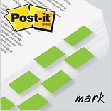 Post-it® Flag 1 x 1-3/4 2-Pack, Bright Green, 2400/Carton