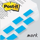 Post-it® Flag 1x1-3/4 2-Pack, Bright Blue, 2400/Carton