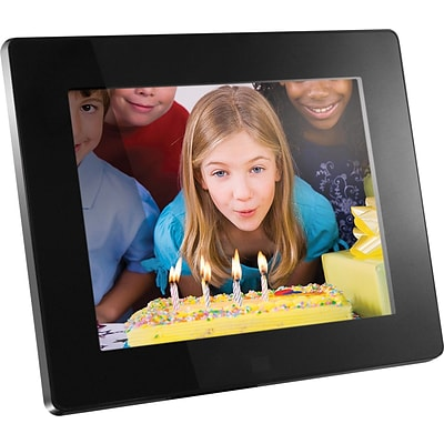 Aluratek Digital Picture Frame, 512MB Memory with Remote, 8