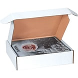 White Deluxe Literature Mailers 12 1/8 x 9 1/4 x 2, 50/Bundle
