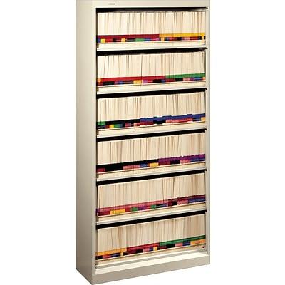 hon brigade 600 series 6 shelf lateral file cabinet, letter, putty lateral file cabinet with shelves