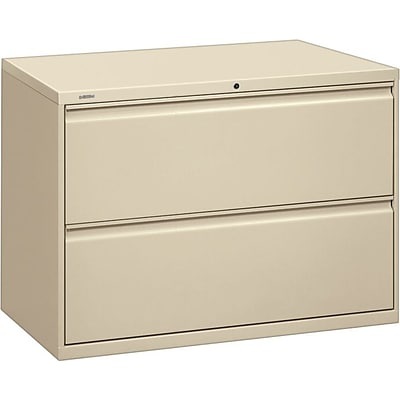 Hon® Brigade® 800 Series 2-Drawer Lateral File Cabinet, Putty, Letter/Legal (892LL)