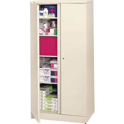 basyx™ by HON® Easy-to-Assemble 72 High, 5- Shelf Storage Cabinet, Putty NEXT2017 NEXT2Day