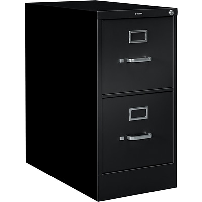HON® S380 Series Vertical Files, 2-Drawer, Letter Size, Black