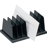 Black Plastic Desk Collections, Vertical Sorter, Recycled