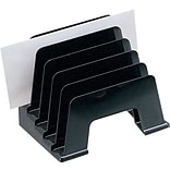 Black Plastic Desk Collections, Incline Sorter, Recycled