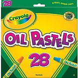 Crayola Oil Pastels, Assorted Colors, 28/Box (52-4628)