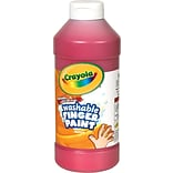 Binney & Smith Crayola® Washable Fingerpaint, Red, 16 oz.