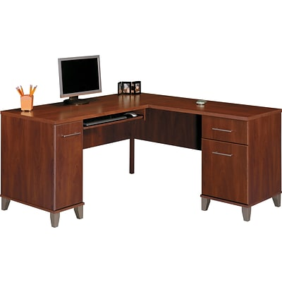 Bush Furniture Somerset 60W L-Desk, Hansen Cherry
