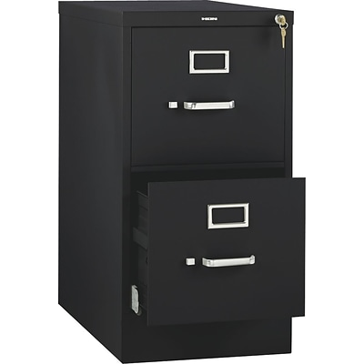 HON 510 Series Vertical File Cabinet, Letter, 2-Drawer, Black, 25D NEXT2017 NEXT2Day