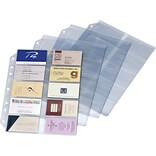 Cardinal Poly Business Card Refill Page, 200 Card Capacity, 11 x 8 1/2, 10/Pk (7860000)