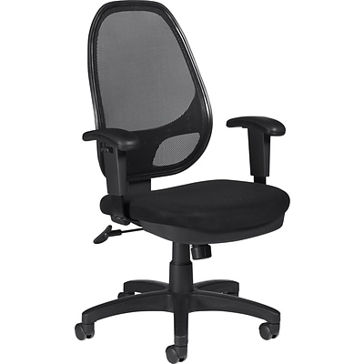 Offices To Go® Managers High-Back Chair, Mesh, Black, Seat: 20W x 17 1/2D, Back: 18W 25H