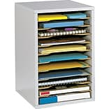 Safco® Grey Wood Vertical Desktop Sorter