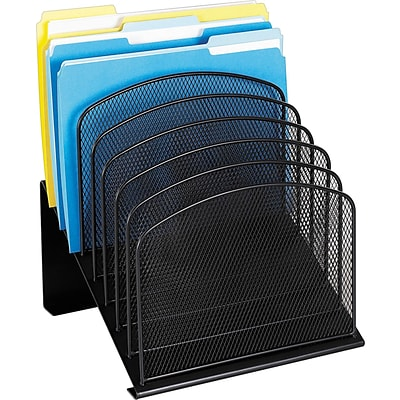 Safco® Onyx Mesh 8-Section Incline Organizer