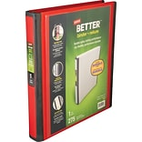 Better 1-Inch D-Ring View Binder, Red (18370)