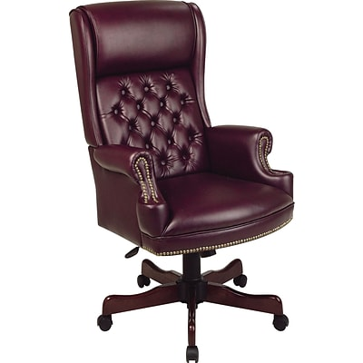 Tremendous Office Star High Back Faux Leather Executive Chair Fixed Arms Burgundy Machost Co Dining Chair Design Ideas Machostcouk