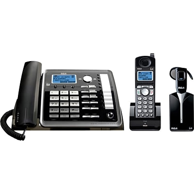 RCA 2-Line Corded/Cordless Phone System with Answering Machine
