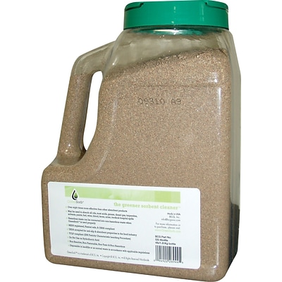 GreenSorb™ Eco-Friendly Sorbents, Clay, 4lb. Shaker Bottle