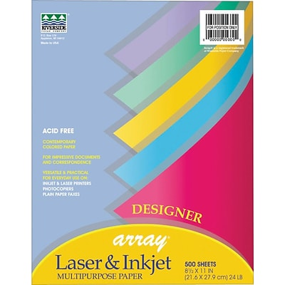 Pacon Array Recycled Designer Colors Paper, 24 lb, 500 Sheets/Rm