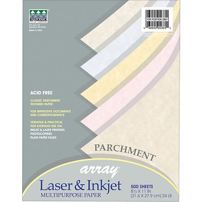 Pacon Array Recycled Colored Parchment Paper, 8 1/2 x 11, 24 lb, 500 Sheets/Rm