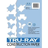 Pacon Tru-Ray Construction Paper 18 x 12, Blue, 50 Sheets (103054)