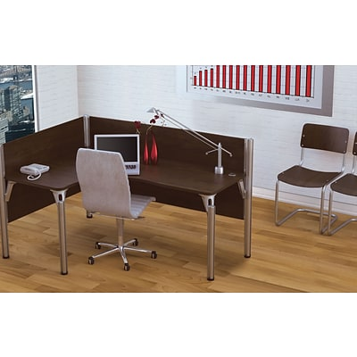 Bestar® Pro Biz Collections in Chocolate, Left L-Shaped Workstation