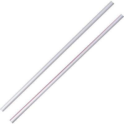 Dixie® Plastic Stirrer 5, White/Red Stripe, 10,000/Carton (HS5CC)