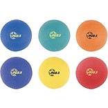 Champions 2-Ply Nylon-Wound Playground Ball Set, Assorted Colors, 8 1/2 Diameter, 6 Balls/Set
