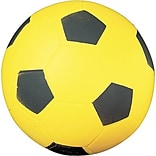 Champions Coated Foam Soccer Sport Ball for Indoor/Outdoor Use, Yellow/Black, 12 oz.