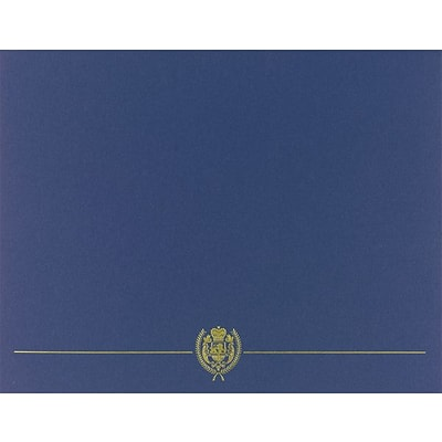 Classic Crest Certificate Holders, Navy