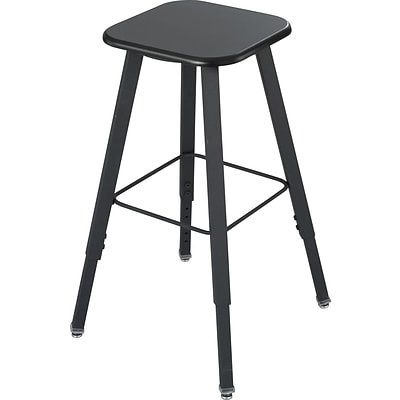 Safco® AlphaBetter® Stool, Black, 19 1/4W x 19 1/4D x 21 to 35 1/2 H