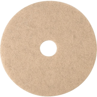 3M Burnishing Pad, Natural Blend Tan Pad 3500, 27, 5/Ct (350027)