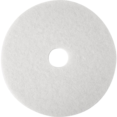 3M™ Low-Speed, White Super Polish Buffing Pad 4100, 17, 5/Case