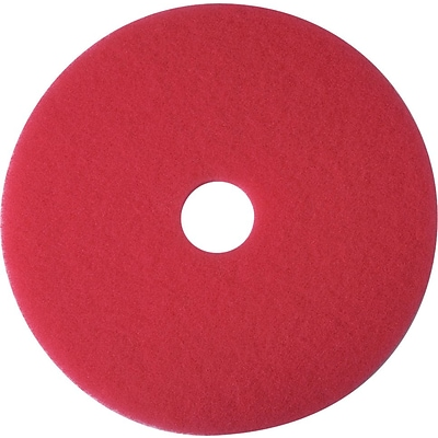 3M™ Low-Speed Floor Pad, Buffing Pad 5100, Red, 20, 5/Ct