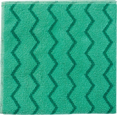 "Rubbermaid(r) Hygen(tm) Microfiber All Purpose Cleaning Wiping Cloths, Green, 16"", 12/ct"
