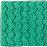 Rubbermaid® HYGEN™ Microfiber All-Purpose Cleaning Wiping Cloths, Green, 16, 12/Ct