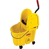 Rubbermaid® FG757688 Commercial Wavebrake Combo, Yellow