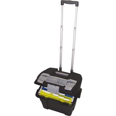 Storex Portable File Box on wheels (61507B01C)