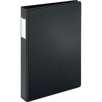 Cardinal® Legal Size Super-Strength™ Slant-D® 1 D-Ring Binder with Label Holder, Non-View, Black