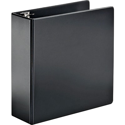 Cardinal® Super-Strength™ Slant-D® Locking 4 D-Ring Binder, Non-View, Black, 3-Ring