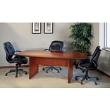 Safco Corsica™ 6 Boat-Shaped Conference Table, Sierra Cherry, 29 1/2H x 72W x 36D