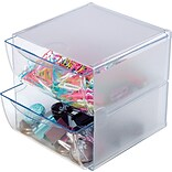 Deflect-O® Organizing Cubes, 1 Cube, 2 Drawers