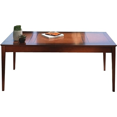Safco Sorrento™ Series Table Desk with Drawer, Bourbon Cherry, 29 1/2H x 72W x 36D