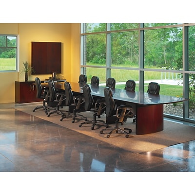 Tiffany Industries™ Napoli Executive Conference Tables in Sierra Cherry, 30