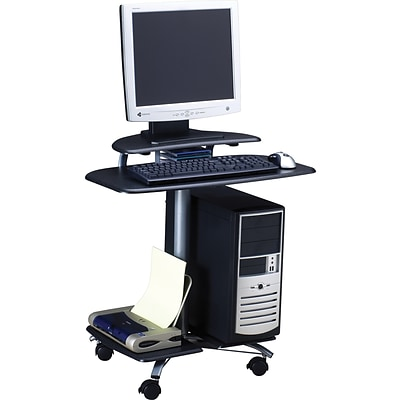 Mayline® Flat Panel Display Stations, Charcoal Grey