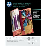 Hewlett-Packard Tri-Fold Professional Brochure & Flyer Papers, 8-1/2 x 11, Matte, 100 Sheets/Pack